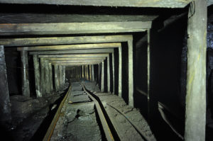 Photo of a mine tunnel