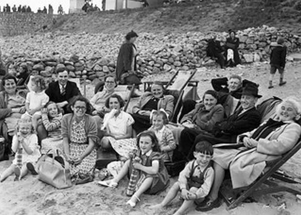 Photo of Family Group on Beach