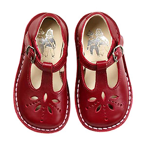Child's red shoes