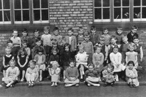 Photograph of pupils at Western Board School (1956), Lower Penman Street, North Shields
