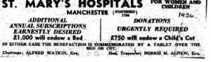 An appeal for money for hospital beds