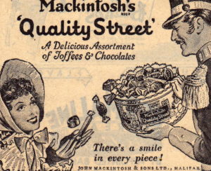 Advert for Mackintosh's Quality Street chocolates