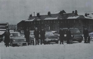 Photograph of police transport, Tynemouth, 1969
