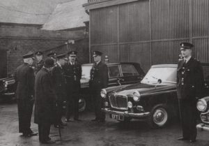 Photograph of Tynemouth Borough Police inspecting their vehicles