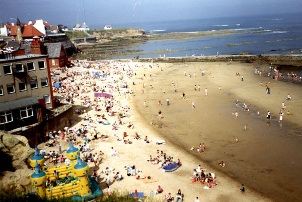 Photo of busy day at Cullercoats Bay