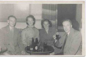 Photograph of friends in the pub