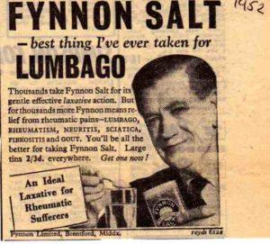 Fynon Salt Advert 1952