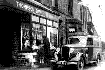 Photograph of Thompson's Butchers, New York village
