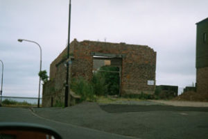Photograph of the remains of the old Deed Hoose, Clifford's Fort, North Shields, 2004