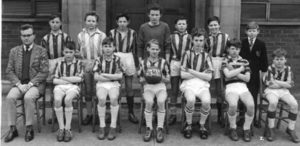 Photograph of a football team, Linskill School, 1963-64
