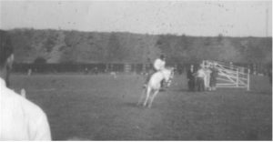Photograph of Show jumping ponies at Burradon