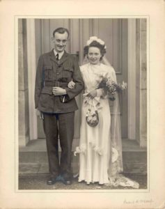 Photograph of a wartime wedding