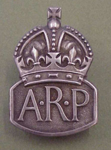 Photograph of Air Raid Precaution badge
