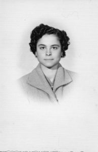 Photograph of Rosa as a young woman living in Italy