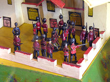 Photograph of toy soldiers guarding the fort!
