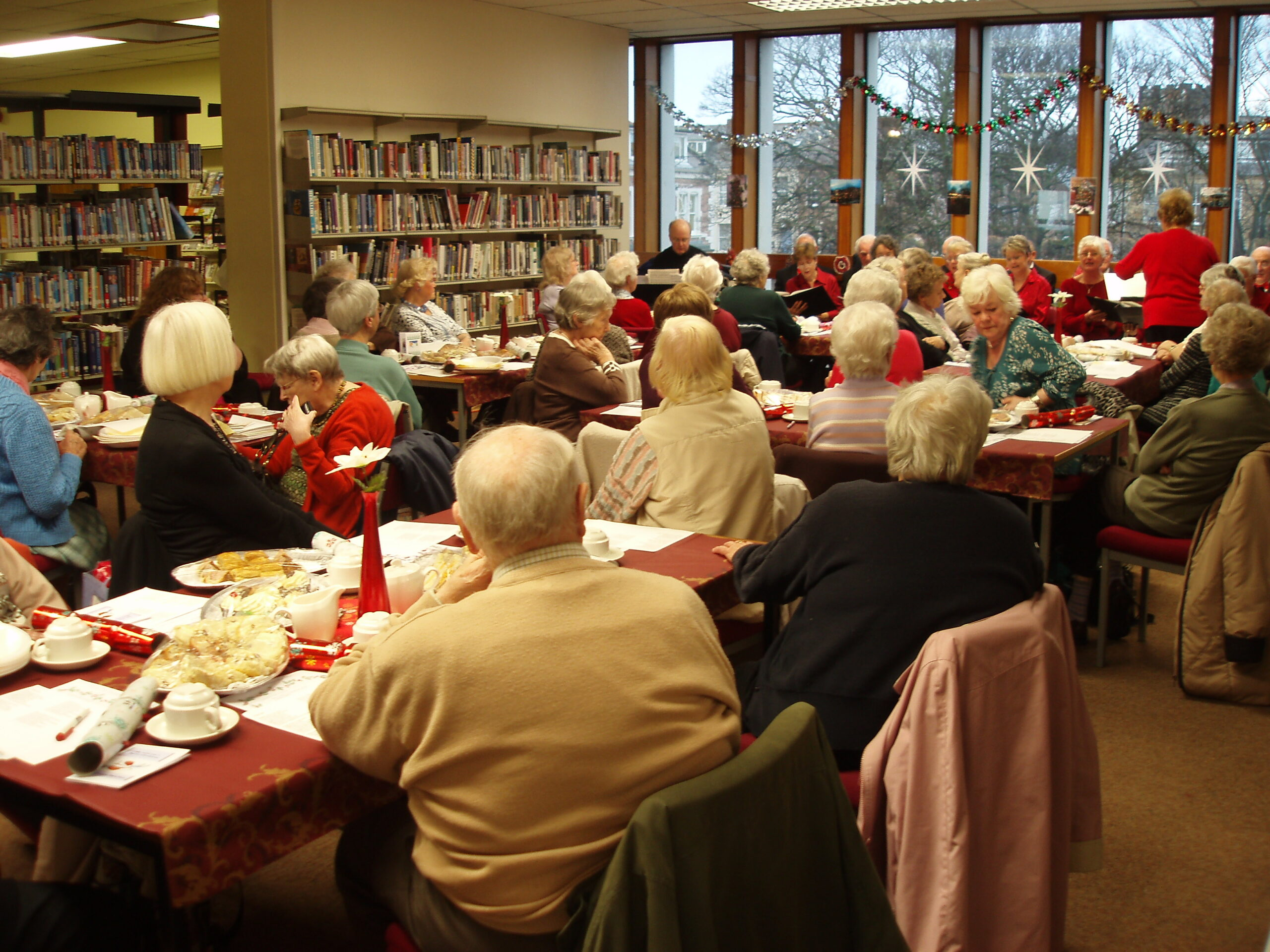 Christmas Past with the Library Club Members
